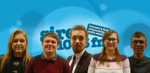Myself and the brilliant Siren FM Breakfast Show team.