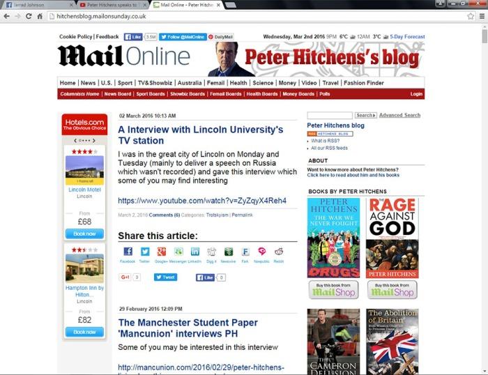 Hitchens blog