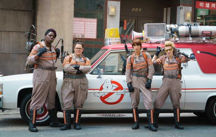 The new Ghostbusters aren't the only females to be taking centre stage Image courtsey of Ghostbusters.com